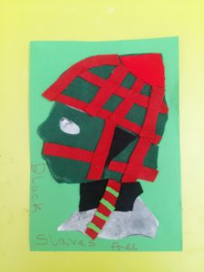 Artwork made by children for The Face Of an African Workshop